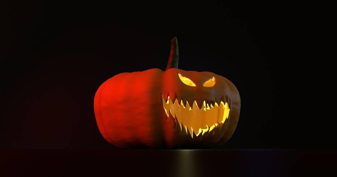 Making a 3D pumpkin animation for dvtchamsterdam for Halloween Wehellip
